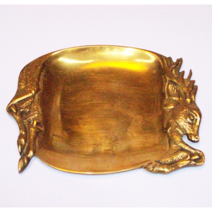 Brass Deer Tray