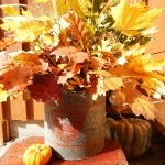 fall leaves bait bucket
